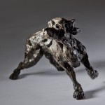 Jane Shaw : Listening : Working Cocker : Animal bronze sculpture : Dogs