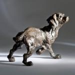 Jane Shaw : Listening : Working Cocker : Bronze animal sculpture : dogs May17_16