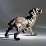 Jane Shaw : Listening : Working Cocker : Bronze animal sculpture : dogs May17_16