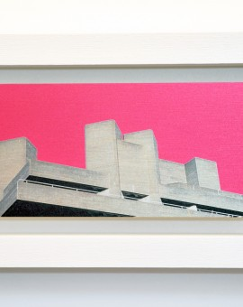 Little London, National Theatre, brushed aluminium print with wood frame, michael wallner, Wychwood Art