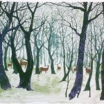 Tim Southall, Deer in the Forest, Wychwood Art