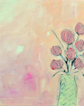 Diane Whalley Pistachio and Pink  Wychwood Art