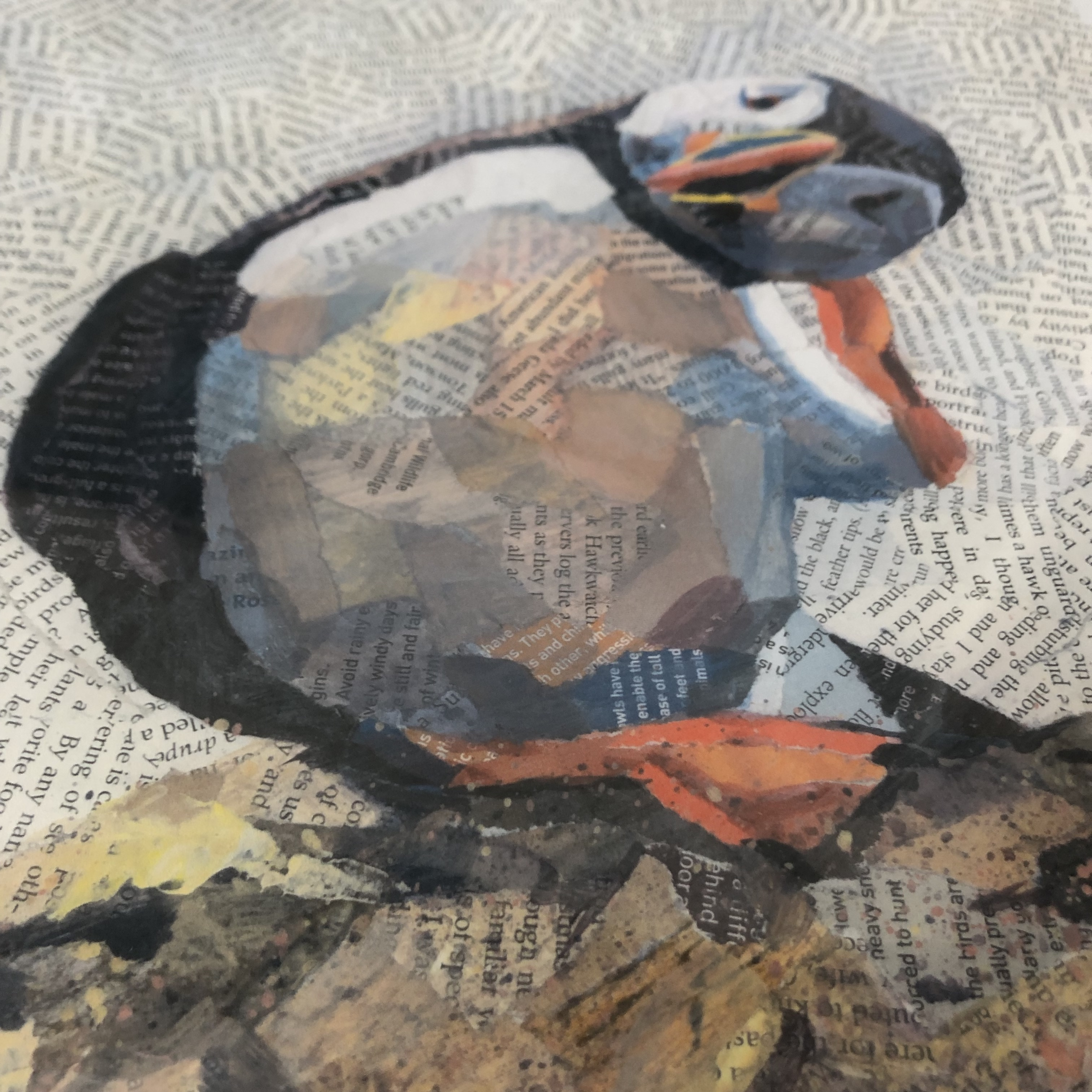 Scratch is a stunning limited edition print featuring a sweet Puffin sat on a rock and is scratching his head.