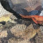 Paul Bartlett, Scratch, Puffin Art, Limited Edition Print - mixed media art, contemporary art, conservation art - close up 5