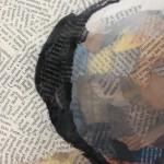 Paul Bartlett, Scratch, Puffin Art, Limited Edition Print - mixed media art, contemporary art, conservation art - close up 6