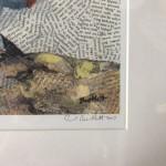 Paul Bartlett, Scratch, Puffin Art, Limited Edition Print - mixed media art, contemporary art, conservation art - signature