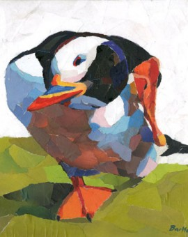 Puffin-Scratching-Paul-Bartlett-Wychwood-Art