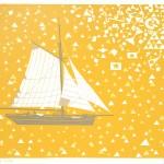 Simon Tozer Carlotta Auba ship screenprint wychwood art