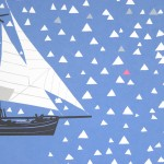 Simon Tozer Carlotta Ship Screenprint Detail Wychwood art