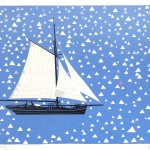 Simon Tozer Carlotta Ship Screenprint Wychwood Art