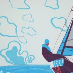 Simon Tozer Rachel Ship screenprint detail Wychwood Art