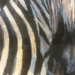 Limited Edition Paul Bartlett Print, Merging Lines, Zebra art, Animal Art, Safari Art, Contemporary Animal Art for Sale Online