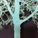 Blue-Oak-Tree-Mixed-Media-Museum-Frame-Blue-Art