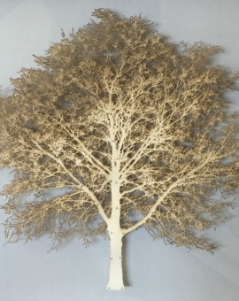 Emma-Levine-Wychwood-Art-Gallery-Gold-Oak-Tree-Mixed-Media-Art