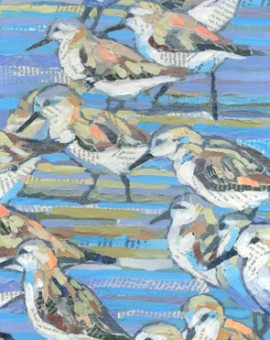 Sanderlings-Paul-Bartlett-Wychwood-Art-Original-Art
