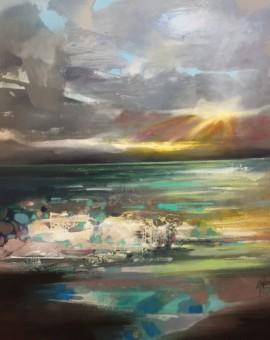 Scott naismith - Wy chwood Art - Scottish Landscape - semi abstract