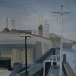 022 Battersea Power Station from the Thames Path 2014 – sarah adams – wychwood art – london art