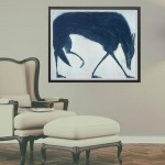 Blue Wolf framed