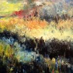 James Tatum January Morning River Exe Estuary  60 x 60 Wychwood Art