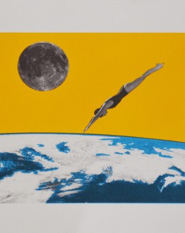 Anne Storno_The space dive_40x30cm_screenprinting_edition of 10