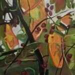 Elaine Kazimierczuk Autumn  Polyptych, panel 1, Hawthorne Wychwood Art