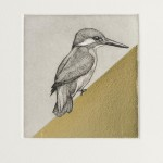 Guy Allen_Kingfisher Study_Etching and gold leaf_8x8cm