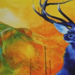 Louise Mcnaught, Stag, Bright Art, Animal Art 2