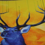 Louise Mcnaught, Stag, Bright Art, Animal Art 3