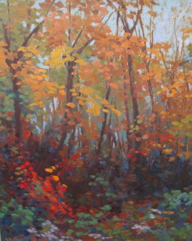 APark-in-Autumn-Andrea-Bates-Wychwood-Art-Gallery