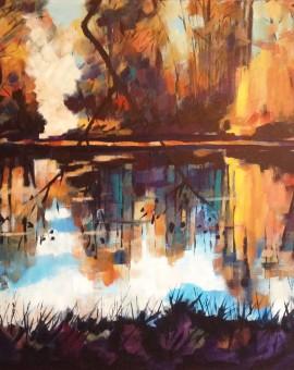 January Lake 80 x80
