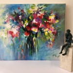 Mary Chaplin, Still Life Flower Painting 2