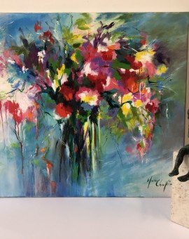 Mary Chaplin, Still Life Flower Painting 2