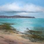 Michael-sanders-Rockpools-St-Mawes-60x60-Wychwood-Art