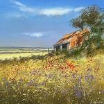 Barn-in-Summer-Wychwood-Art-Michael-Sanders