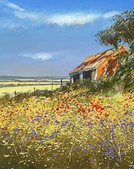 Barn-in-Summer-Wychwood-Art-Michael-Sanders