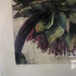 Limited Edition Vicky Oldfield Collagraph Print, Cardoon , Hand Finished Print, Contemporary Flower Art 5