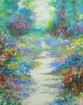 Mary Chaplin summer walk in Giverny Wychwood Art