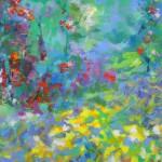 Mary Chaplin summer walk in Giverny, detail 2 Wychwood Art