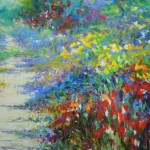 Mary Chaplin summer walk in Giverny, detail1 Wychwood Art
