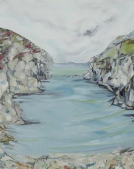 Carola Colley : Contemplation, Porth Rufford : seascape : Wychwood Gallery