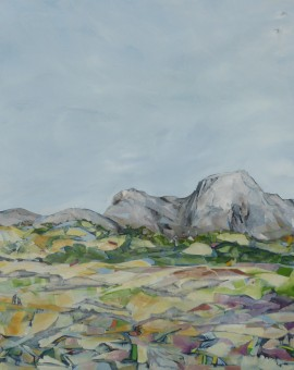 Carola Colley : Toward Mynydd Twr : landscape : Wychwood Gallery
