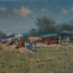 Colin Allbrook. Honiton show cattle.Wychwood art.