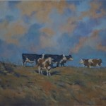 Colin Allbrook. Late afternoon sun. Wychwood art.