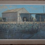 Colin Allbrook. Morning sheep market. Wychwood art.Frame