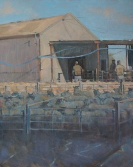 Colin Allbrook. The morning sheep market.Wychwood art.