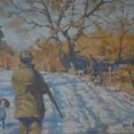 Colin Allbrook. Winter glow.Wychwood art.