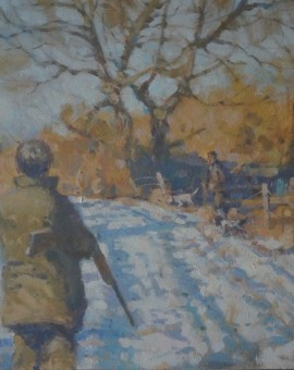 Colin Allbrook. Winter glow.Wychwood art.