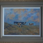 Colin Allbrook.Late afternoon sun. Wychwood art.Frame