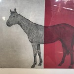 Guy-Allen-Horse-Study-Red-Original-Print-Wychwood-Art