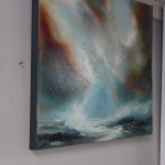 Helen Howells, Hope At Sea, Original Oil Painting, Seascape Art, Dramatic Art, Moody Art